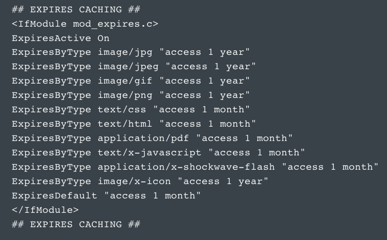 caching htaccess