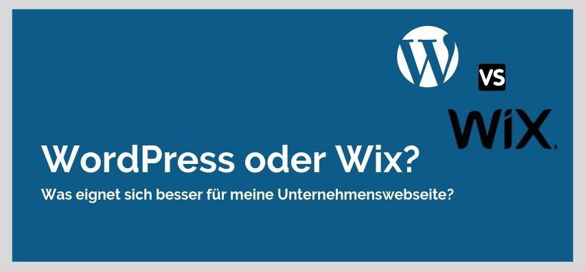 wordpress oder wix